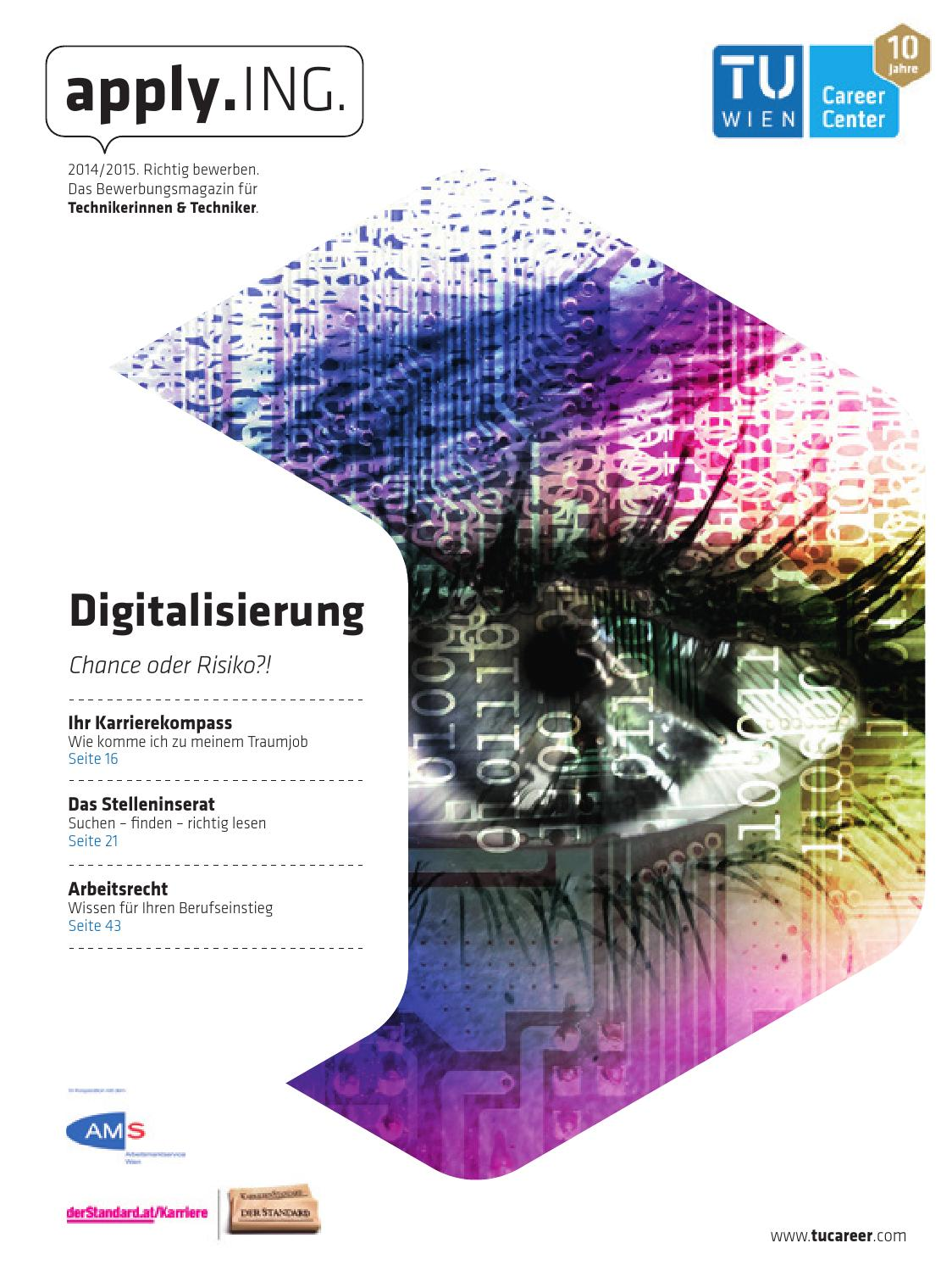 apply.ING. - Das Bewerbungsmagazin 2014/15 by TU Career Center GmbH - issuu