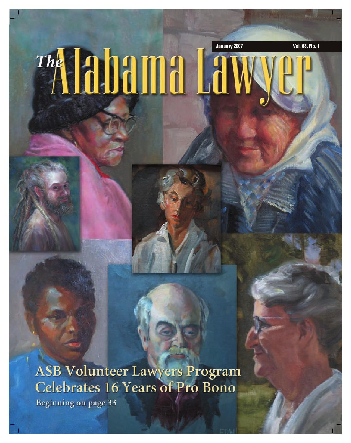 Lawyer Jan 2007 Web By Alabama State Bar Association Issuu For Keyesbarnettdrake Et Al V Obama Ninth Circuit Court Of Appeals