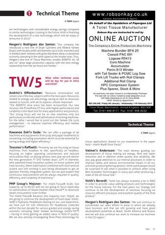 Tissue World magazine January/February 2015 by Tissue World