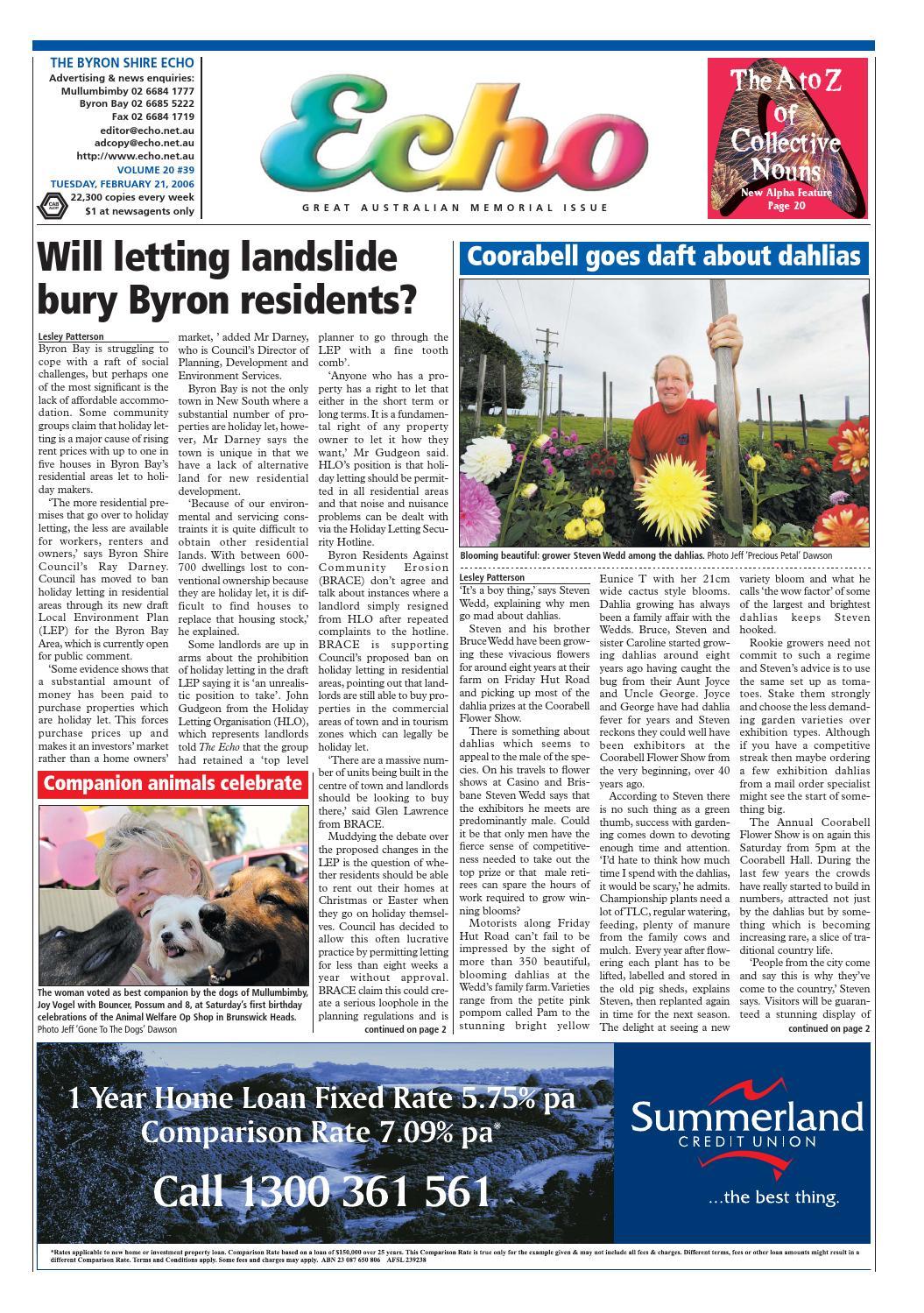 Byron Shire Echo – Issue 20.39 – 21 02 2006 by Echo Publications - issuu f73685311748
