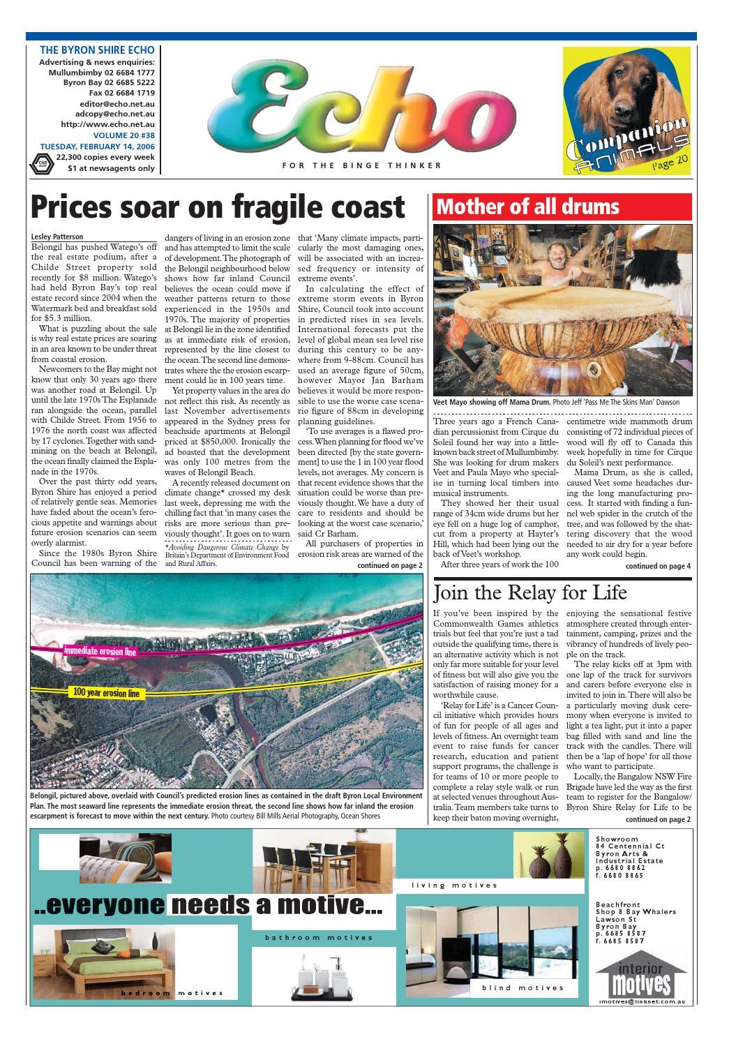 Byron Shire Echo – Issue 20 38 – 14/02/2006 by Echo