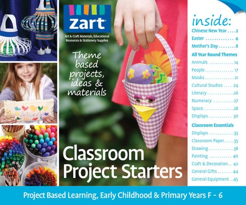 Classroom Project Starters Term 1 2 2015 By Zart Art Craft And