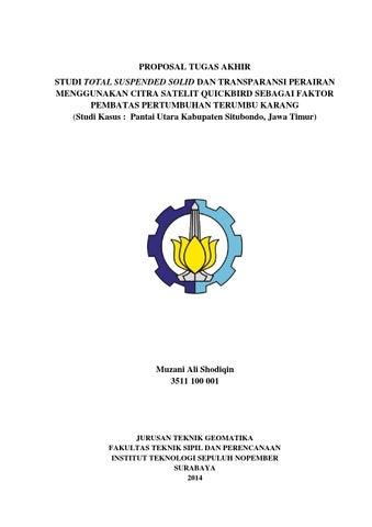 Proposal Ta Geomatika Its 2014 By Muzani Ali Issuu