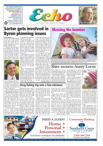 Byron Shire Echo – Issue 20 20 – 04/10/2005 by Echo Publications - issuu