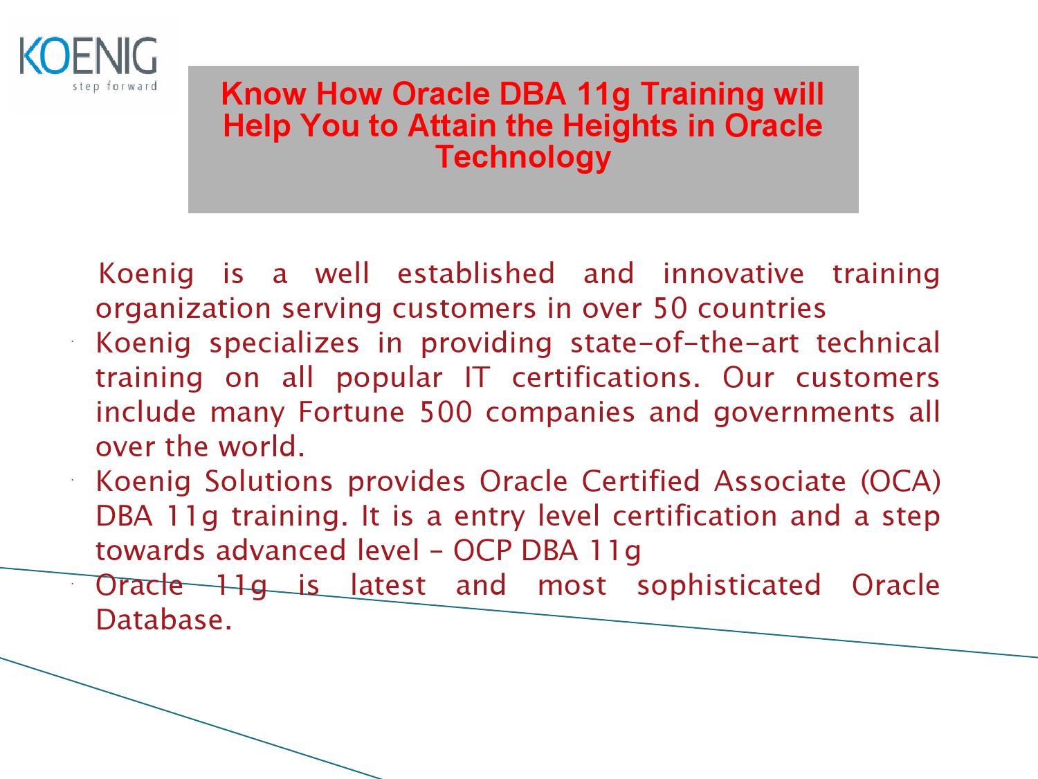 Oracle 11g Training By Michaelwarne Issuu