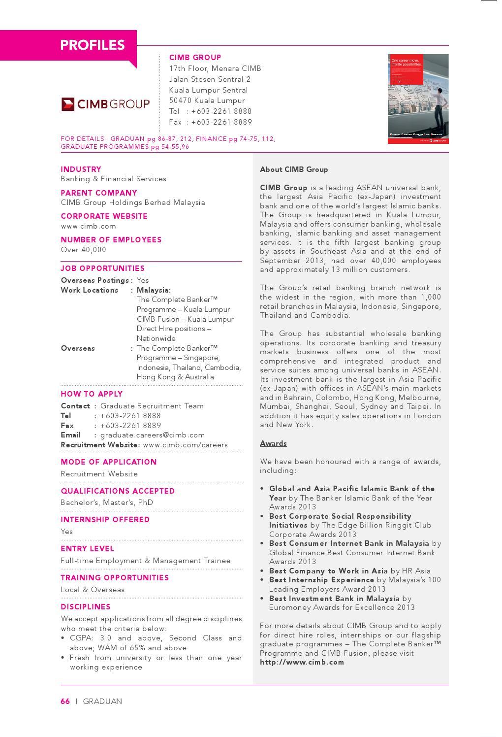 GRADUAN 2014 - Employer's Profile by GRADUAN - issuu