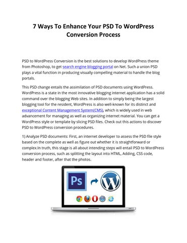 7 Ways To Enhance Your PSD To WordPress Conversion Process by