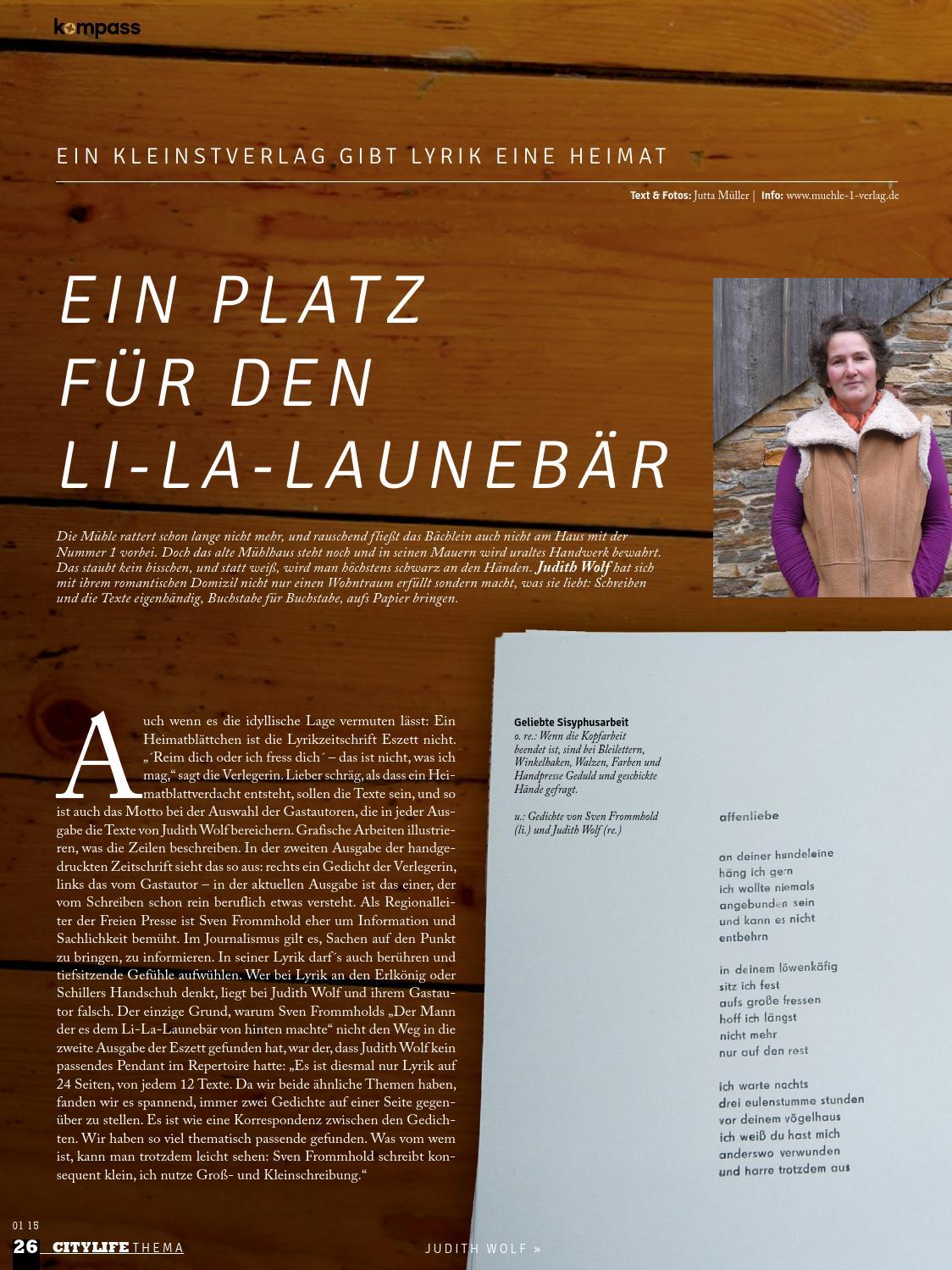 Kompass Stadtmagazin Ausgabe 01 15 By Kompass Stadtmagazin