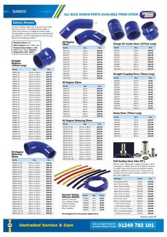 Samco Standard Elbows Blue 45-degrees 35mm 102mm