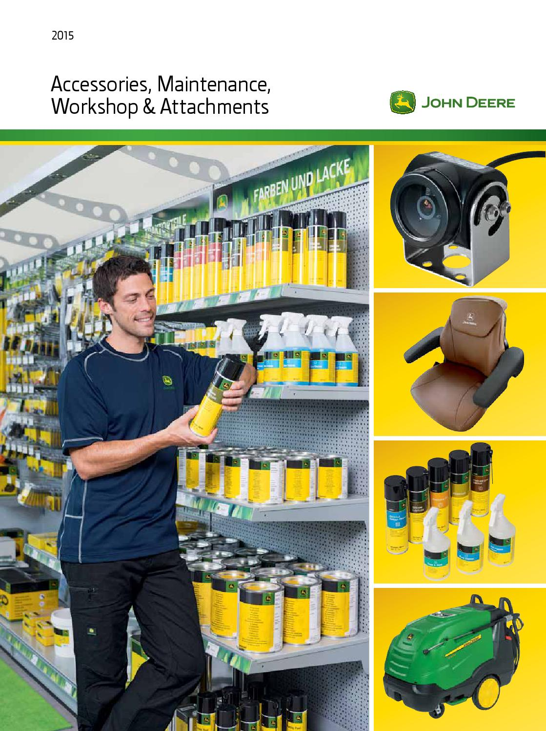 John Deere Accessories Maintenance Workshop Arrachments 2015 By 4500c Fuse Box Diagram Semler Agro A S Issuu