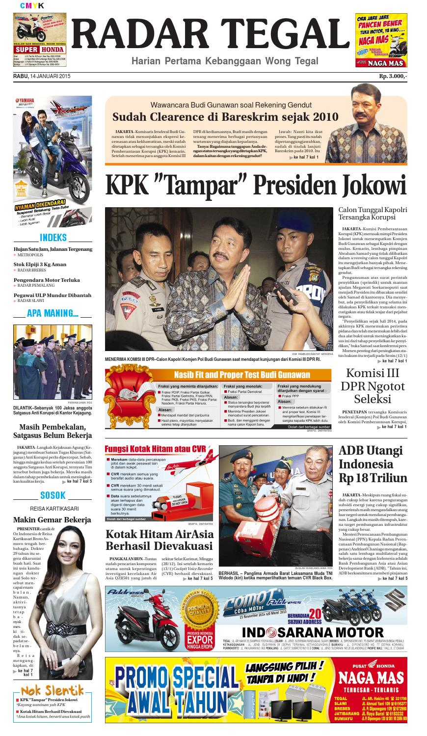 Radar Tegal 14 Jan 2015 By Jaelani Hutabarat Issuu