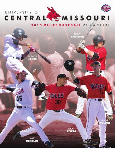 2015 Central Missouri Mules Baseball Media Guide by UCM