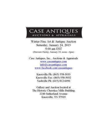 a6feb61b12 Case Antiques Jan 24 2015 auction catalog by Case Antiques