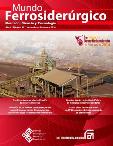 e554e673fcb Revista Mundo Ferrosiderúrgico No. 16 by Revista Mundo ...