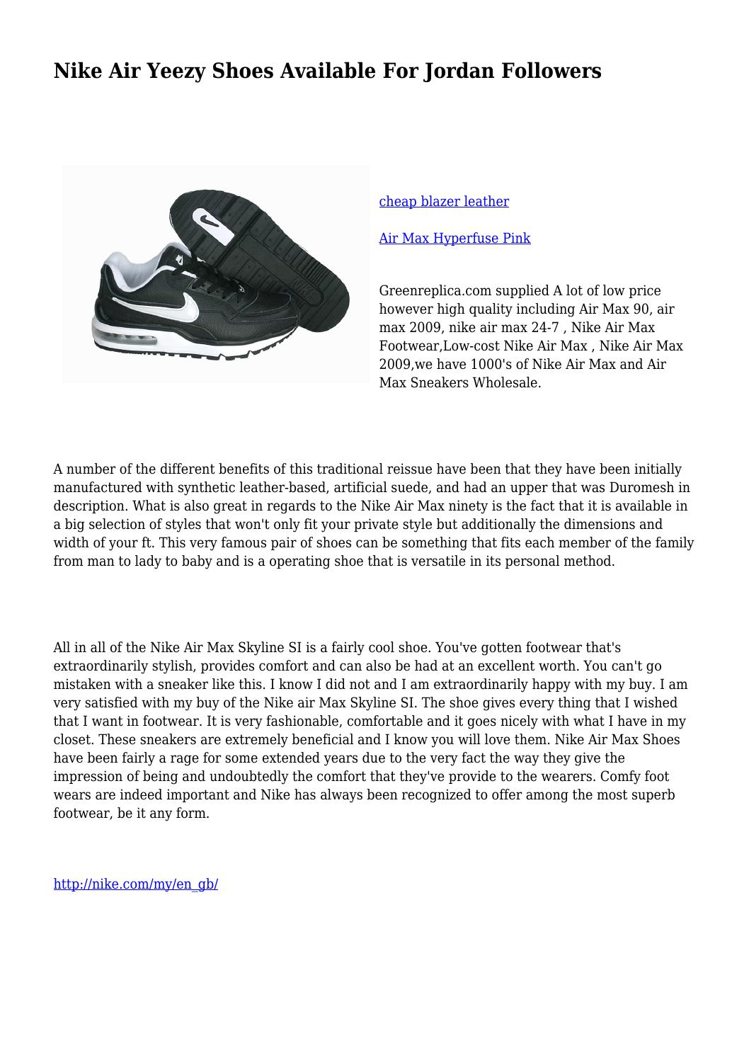 7848b7d90204 Nike Air Yeezy Shoes Available For Jordan Followers by heartbreakingsc42 -  issuu