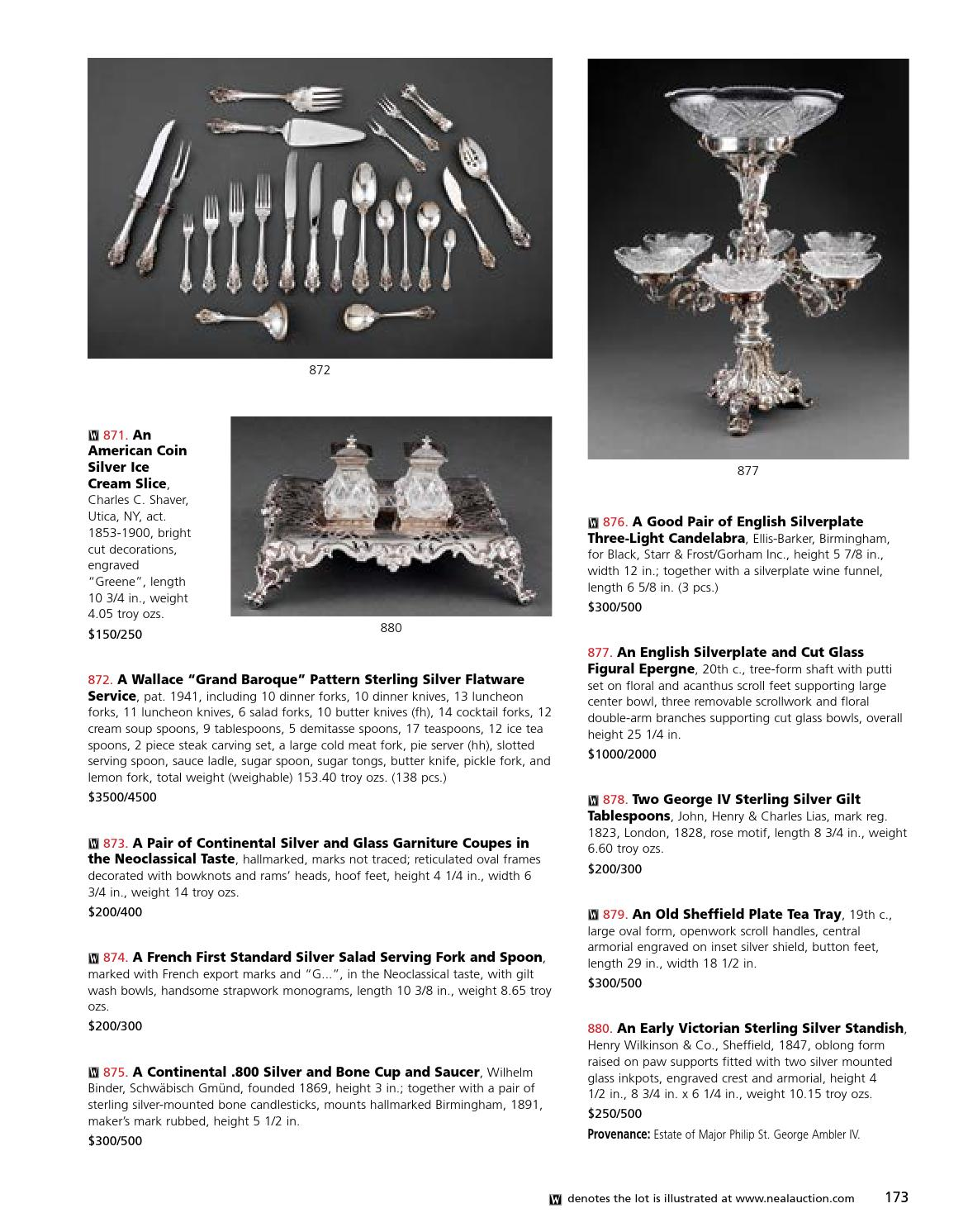 """Floral by Wallace Plate Silverplate Dinner Fork HH 7 5//8/"""""""