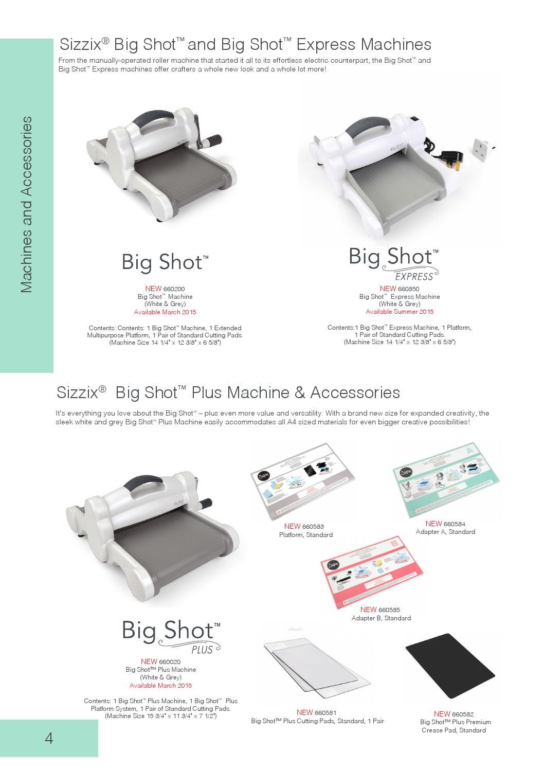 Standard 660582 SIZZIX Big Shot Plus Accessory Premium Crease Pad
