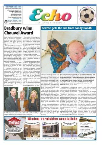 b161269b Byron Shire Echo – Issue 20.12 – 09/08/2005 by Echo Publications - issuu