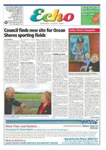 Byron Shire Echo – Issue 20 15 – 30/08/2005 by Echo
