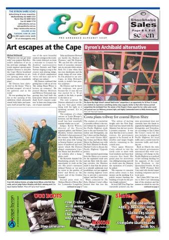 11e7a7f5570 THE BYRON SHIRE ECHO Advertising   news enquiries  Mullumbimby 02 6684 1777  Byron Bay 02 6685 5222 Fax 02 6684 1719 editor echo.net.au adcopy echo.net.au  ...