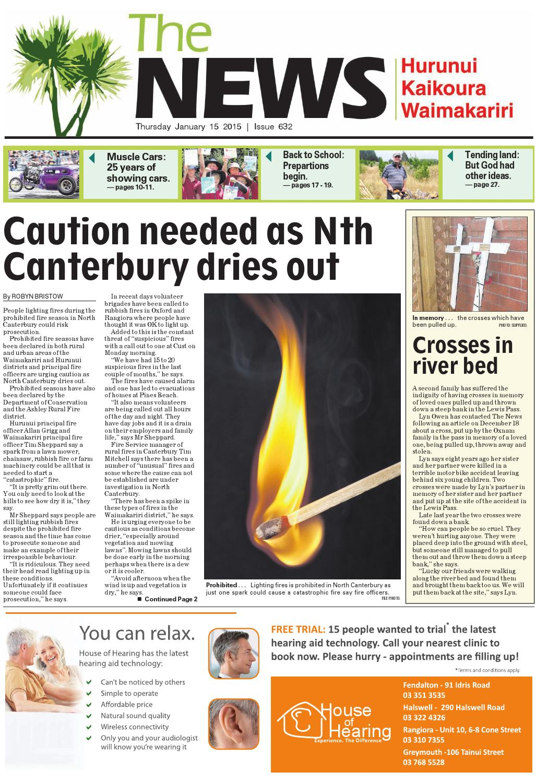 The News North Canterbury 15-01-15
