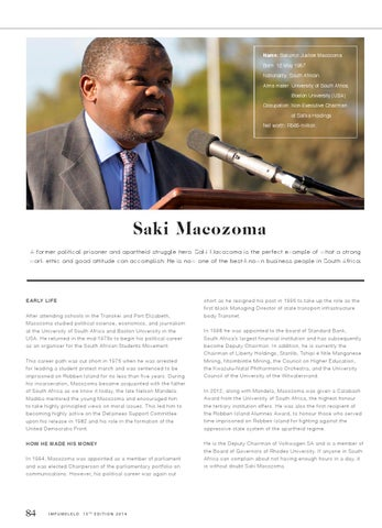saki macozoma biography