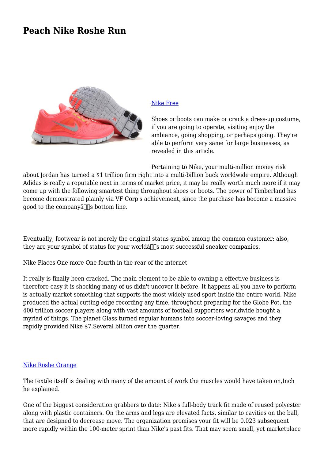 Peach Nike Roshe Run By Greenposterity838 Issuu