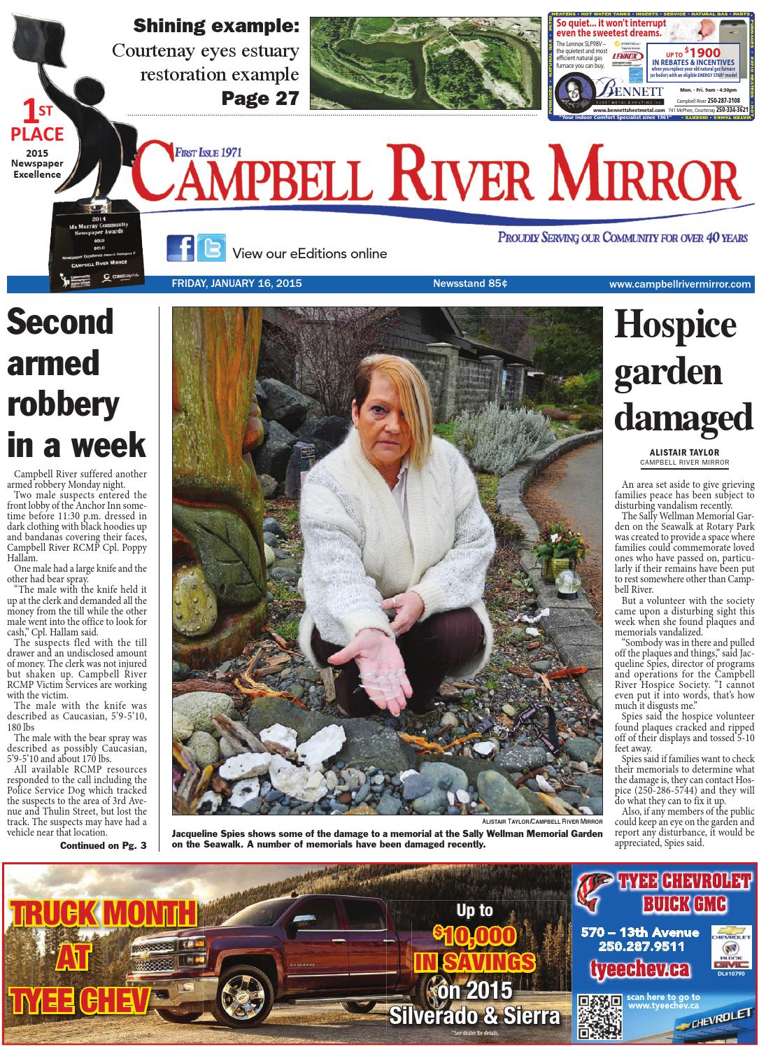 Campbell River Mirror January 16 2015 By Black Press Issuu
