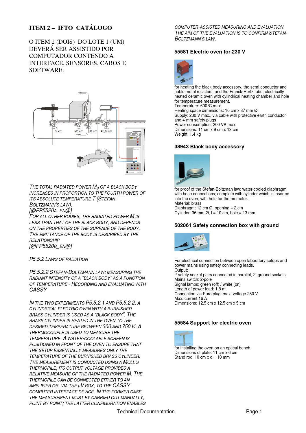 Experimento Leis De Radiao By Autosys Issuu P5 Electricitypage2