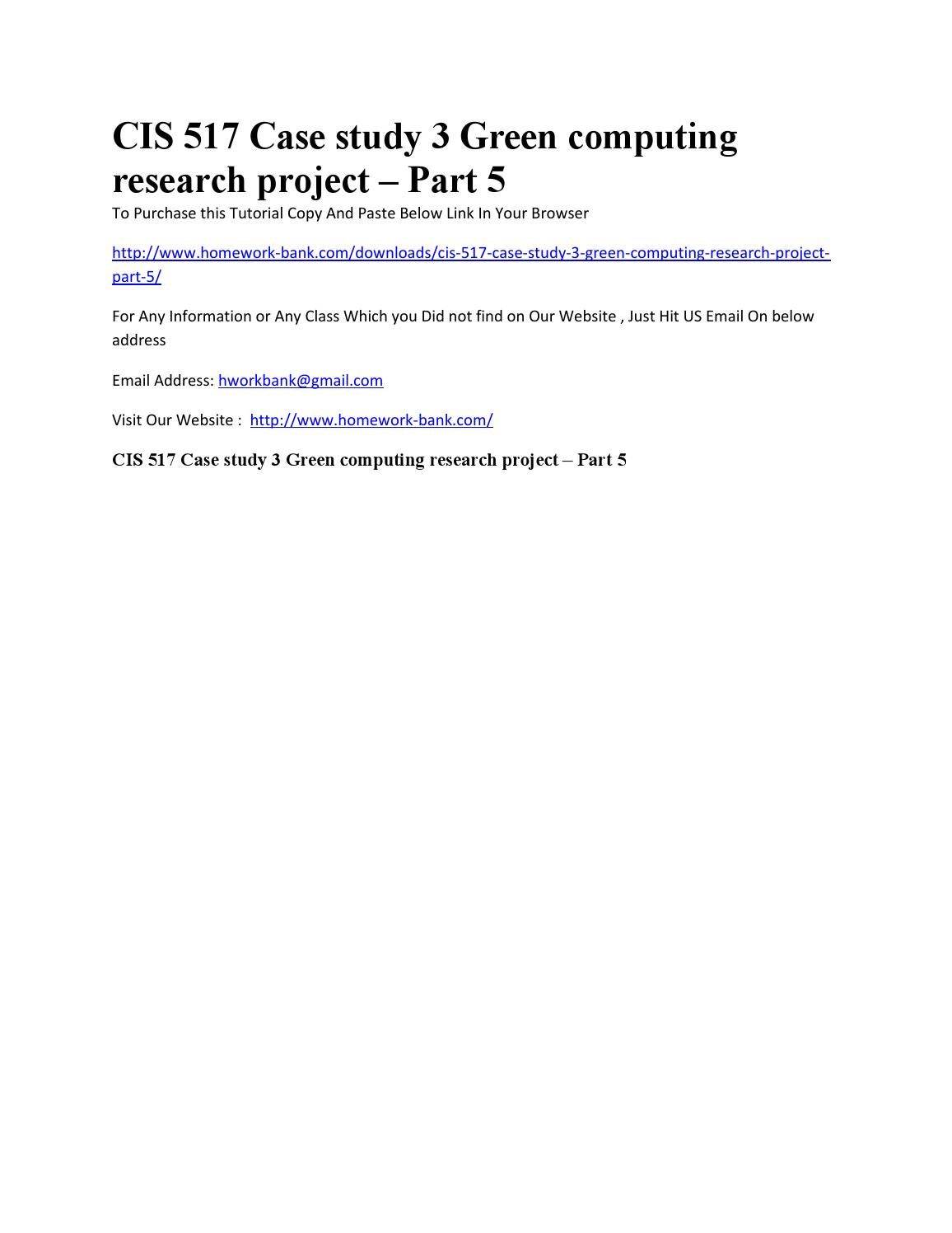 green computing research project 2