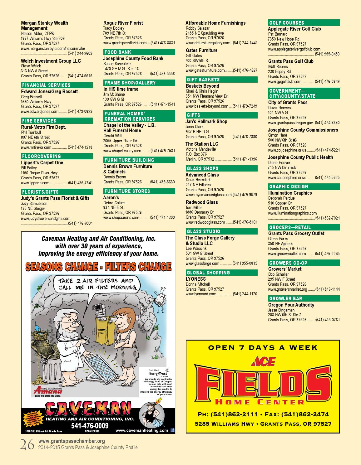 Grants Pass Profile 2014 2015 By MAP Publications   Issuu