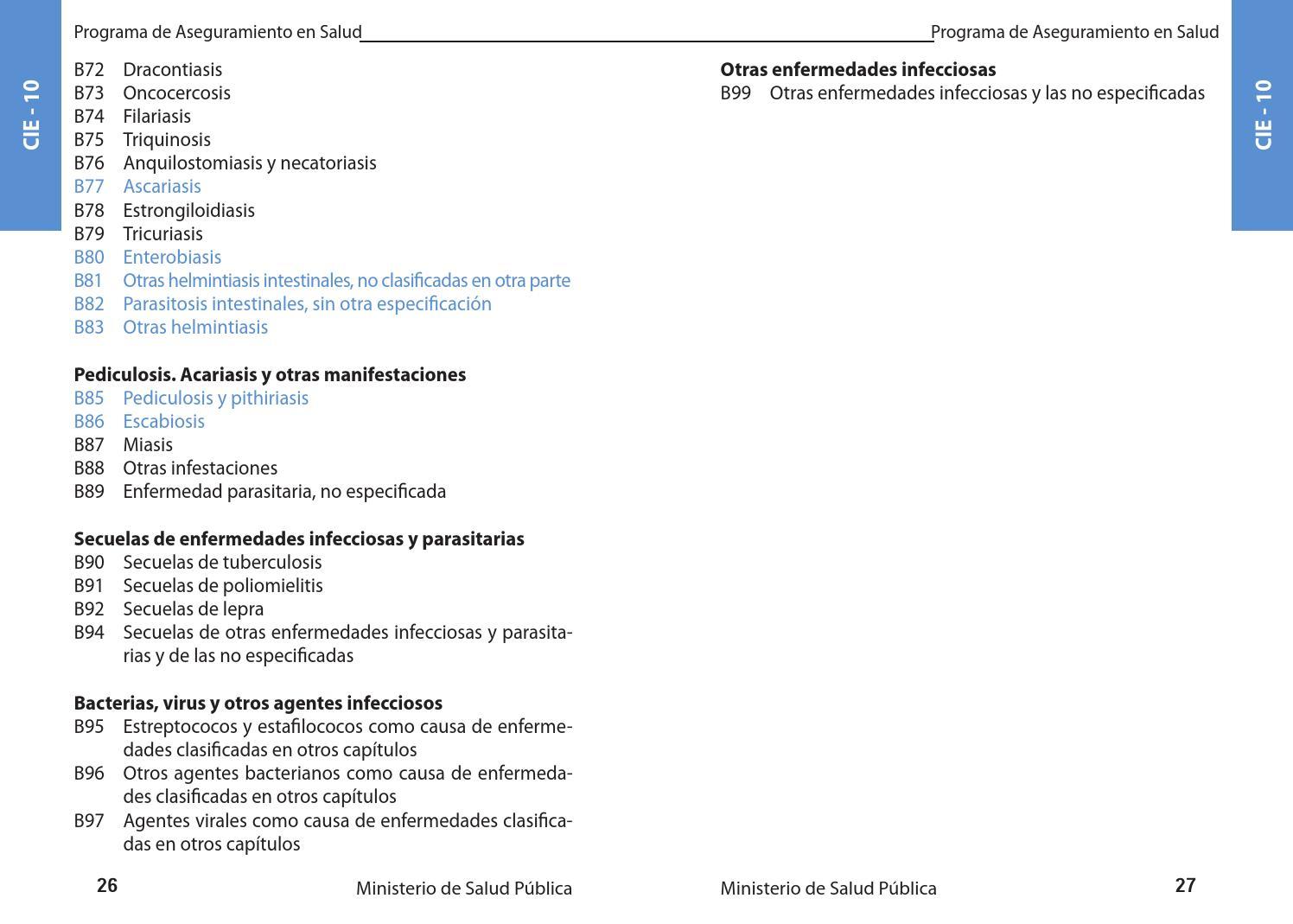 enterobiasis cie 10