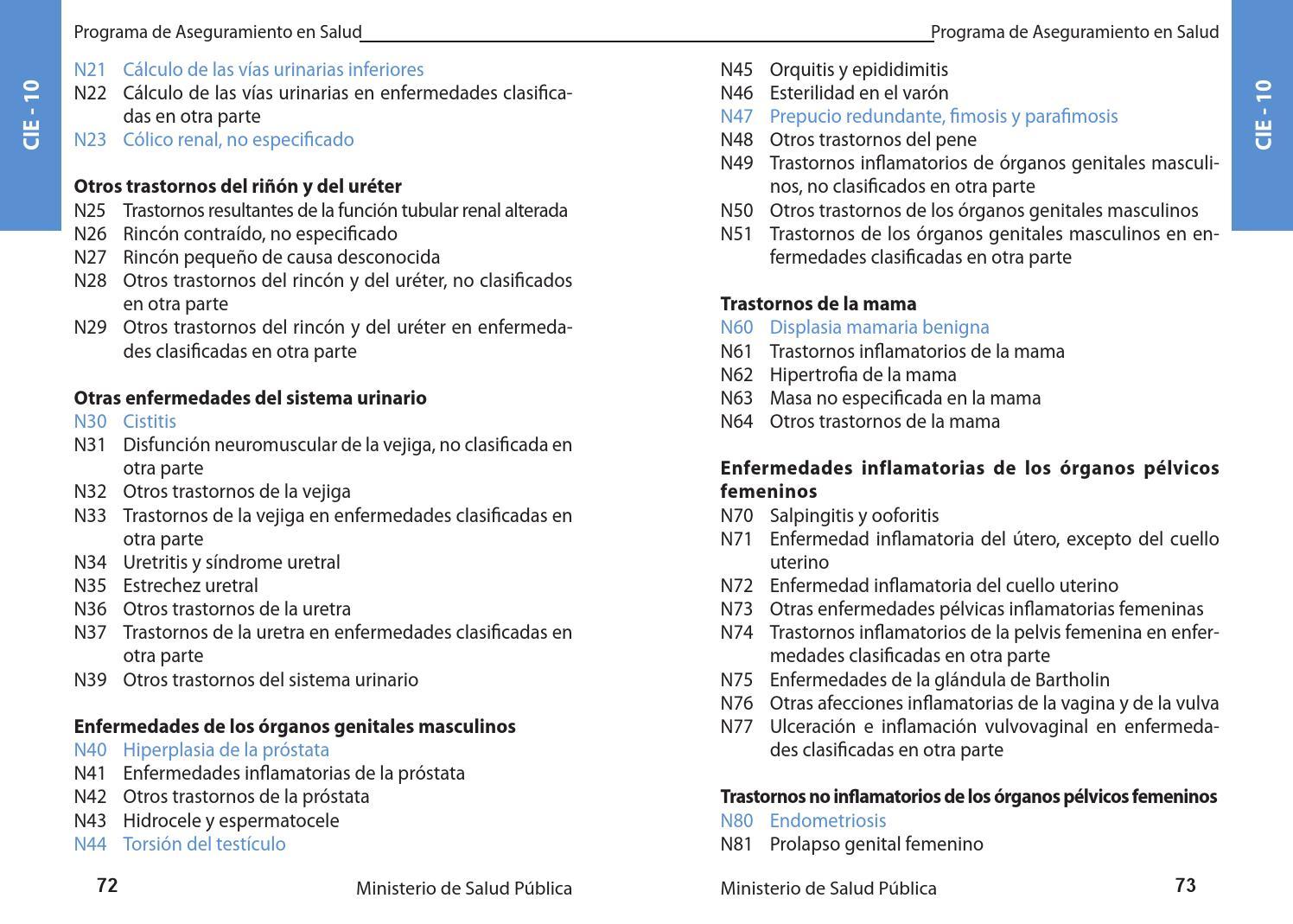 cálculos en la próstata y la vejiga icd 10 25