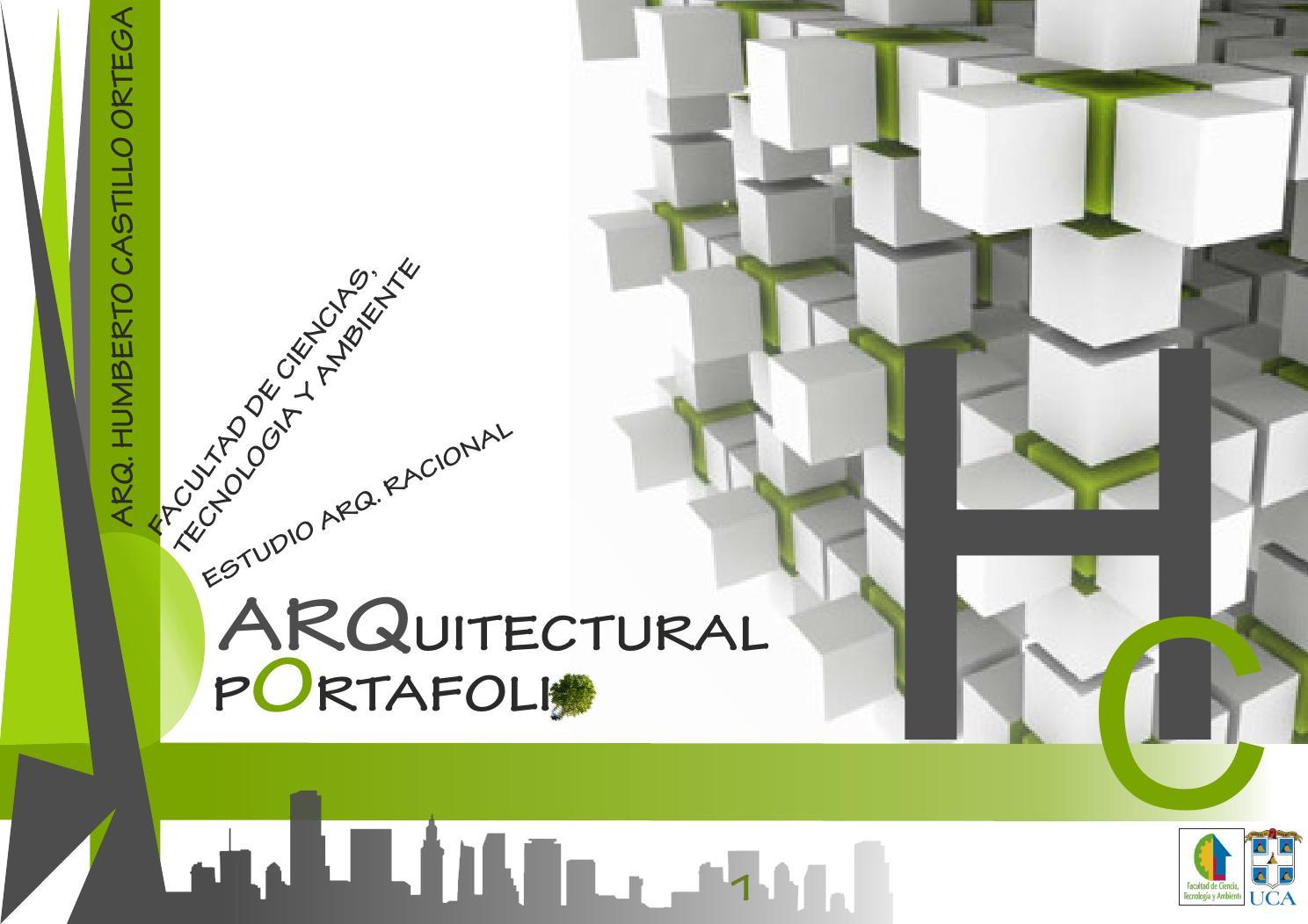 Portafolio arquitectura humberto castillo by humberto for Portafolio arquitectura