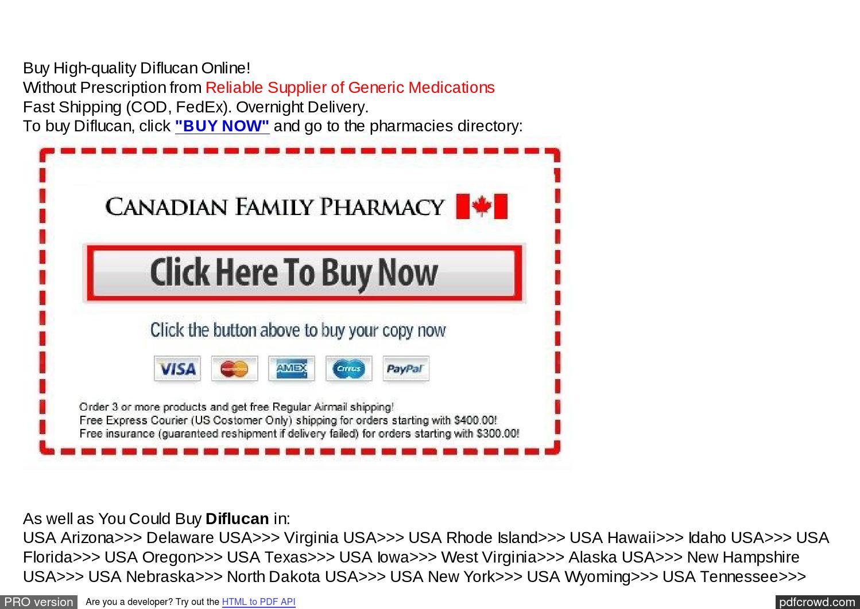 Diflucan prescription online