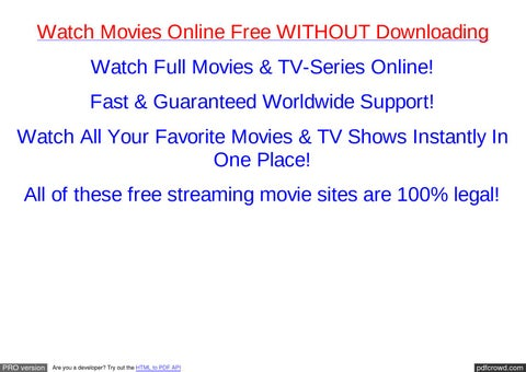 is streaming movies illegal in the usa