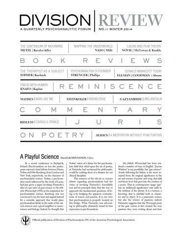 Division/Review Issue 11 Winter 2015 by David Lichtenstein - issuu