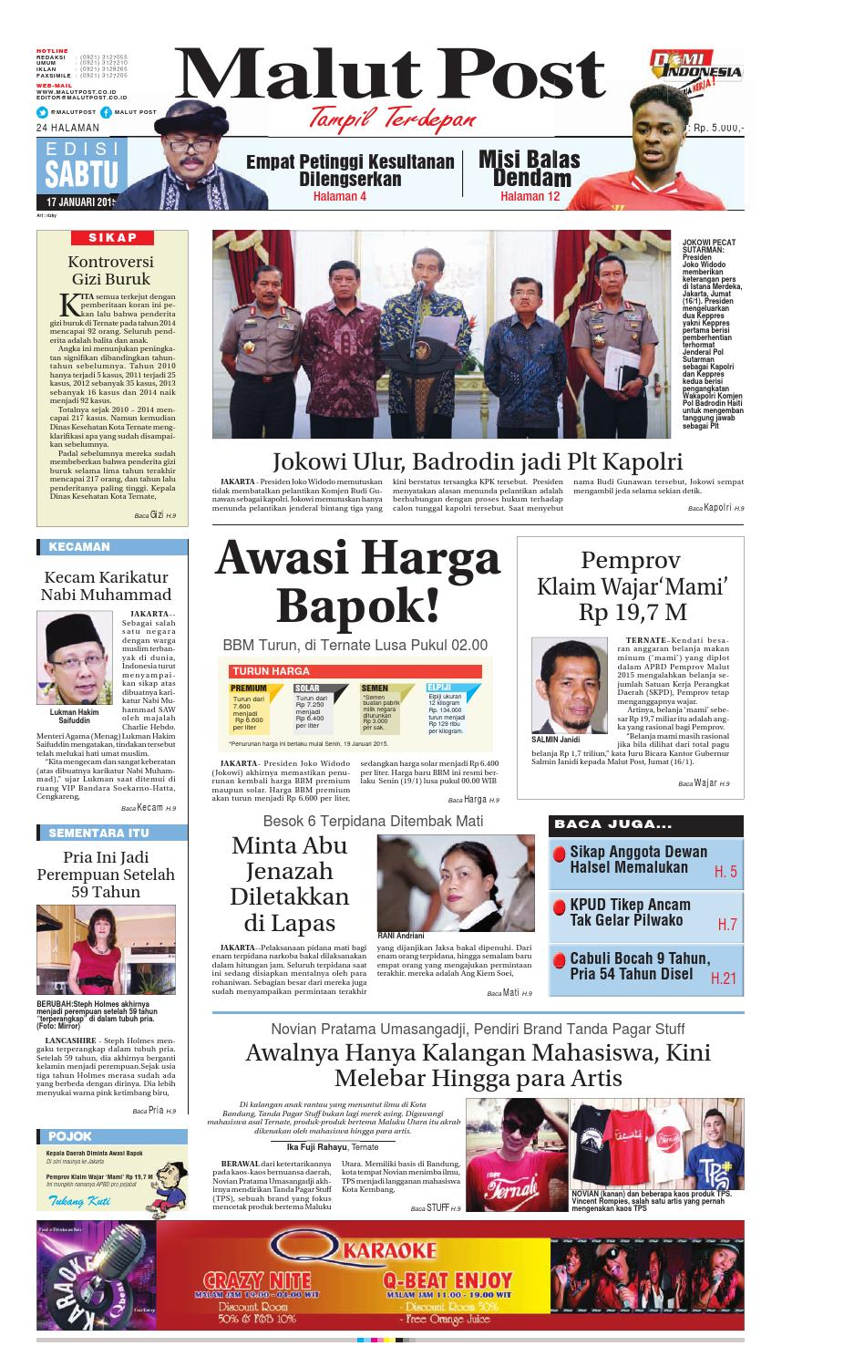 Malut Post 17 Januari 2015 By Malut Post Issuu