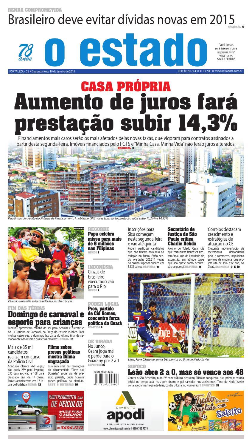 Edição 22430 - 19 de Janeiro de 2015 by Jornal O Estado (Ceará) - issuu 1666dc4b784d9