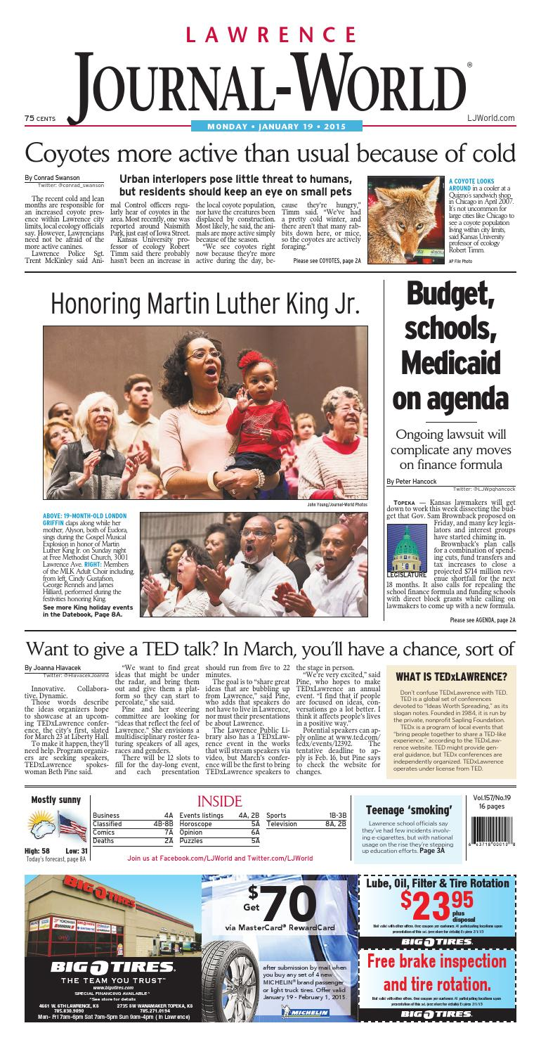 b4d036d9c5f694 Lawrence Journal-World 01-19-15 by Lawrence Journal-World - issuu
