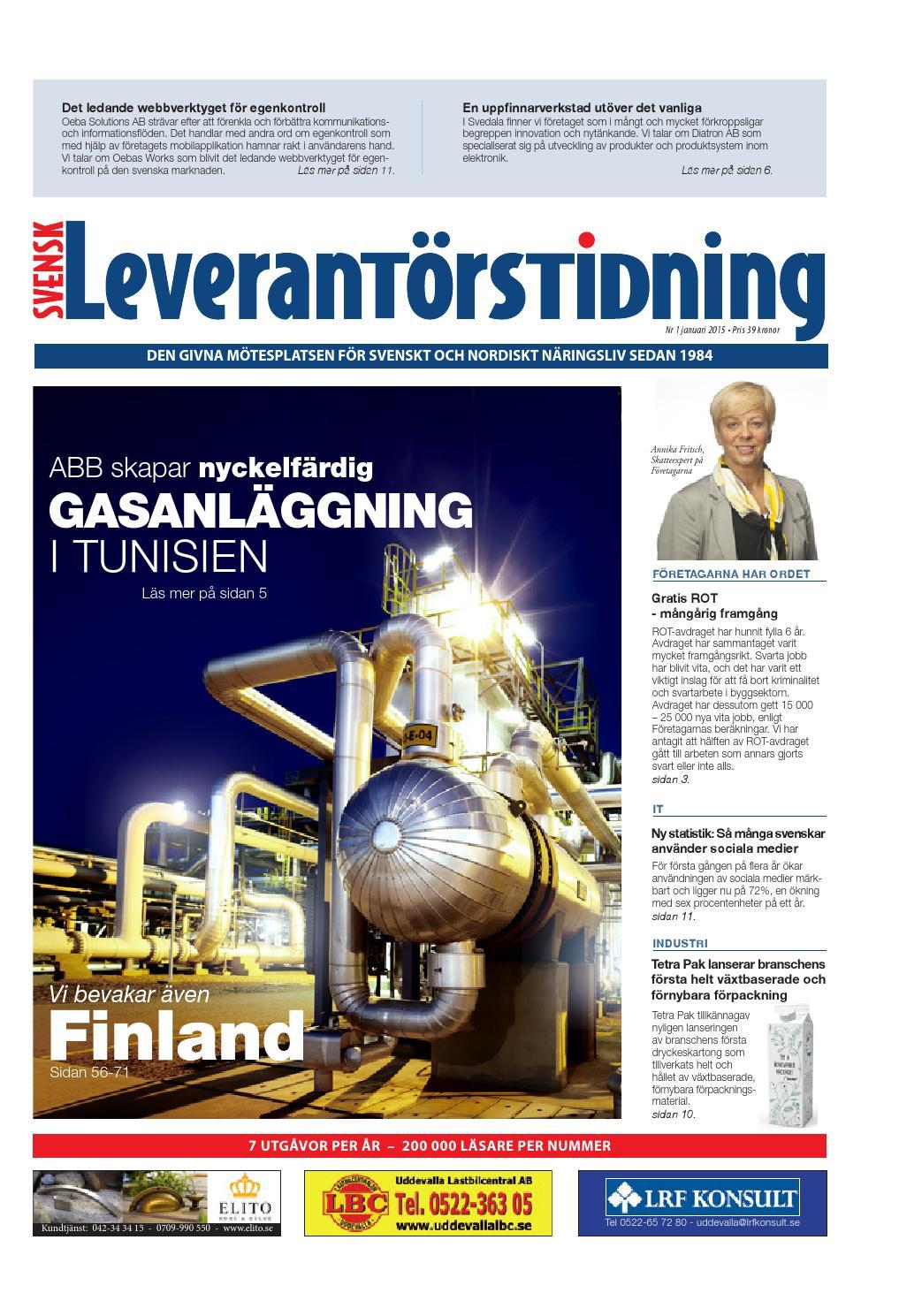 Svensk Leverantörstidning nr-1 2015 by Hexanova Media Group AB - issuu ef8011960929b