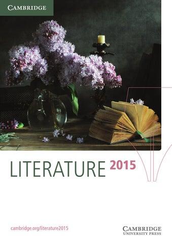 Literature Catalogue 2015 By Cambridge University Press Issuu