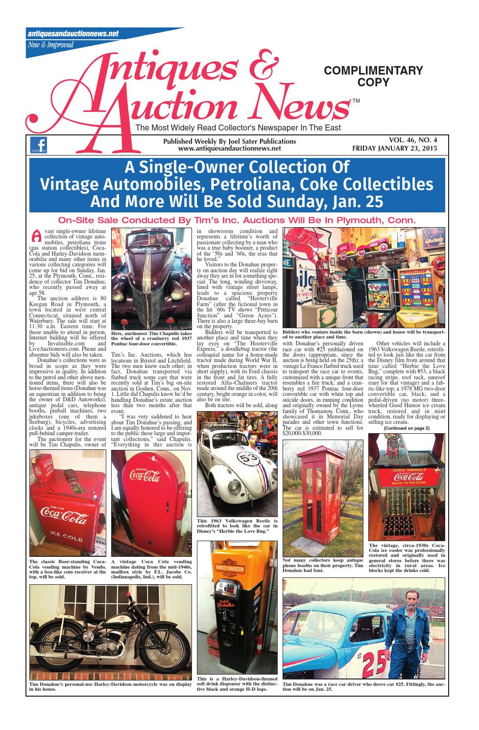 Antiques & Auction News 012315 by Antiques & Auction News