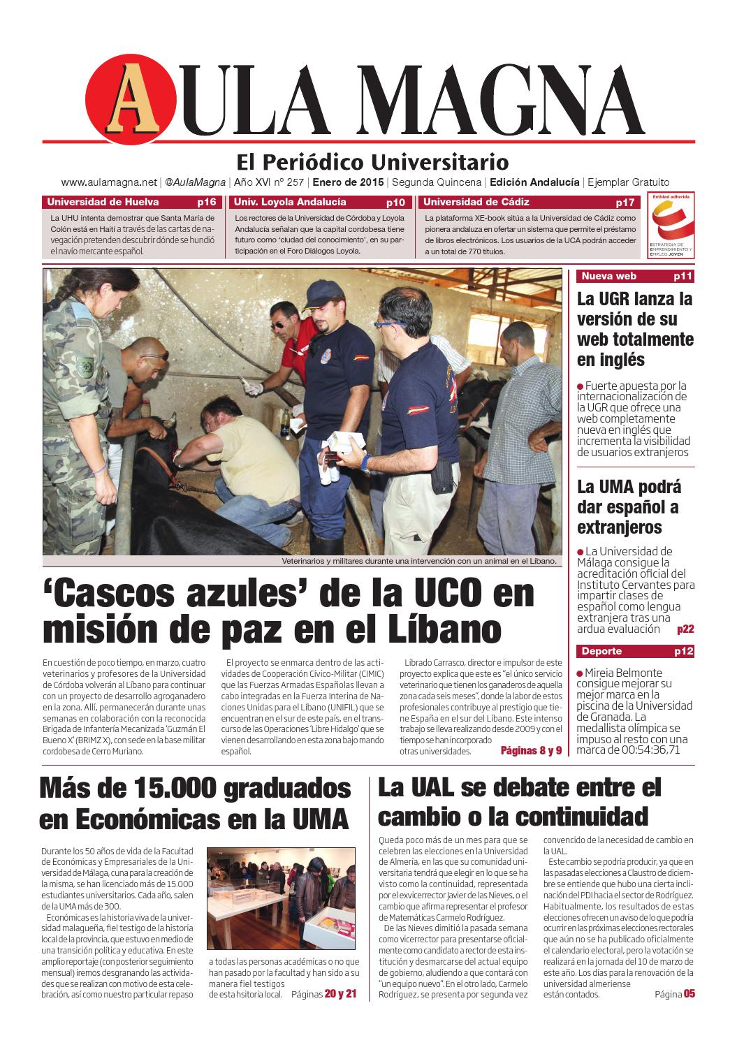 257- Aula Magna - Edición Andalucía. 50º Aniversario universidad de ...