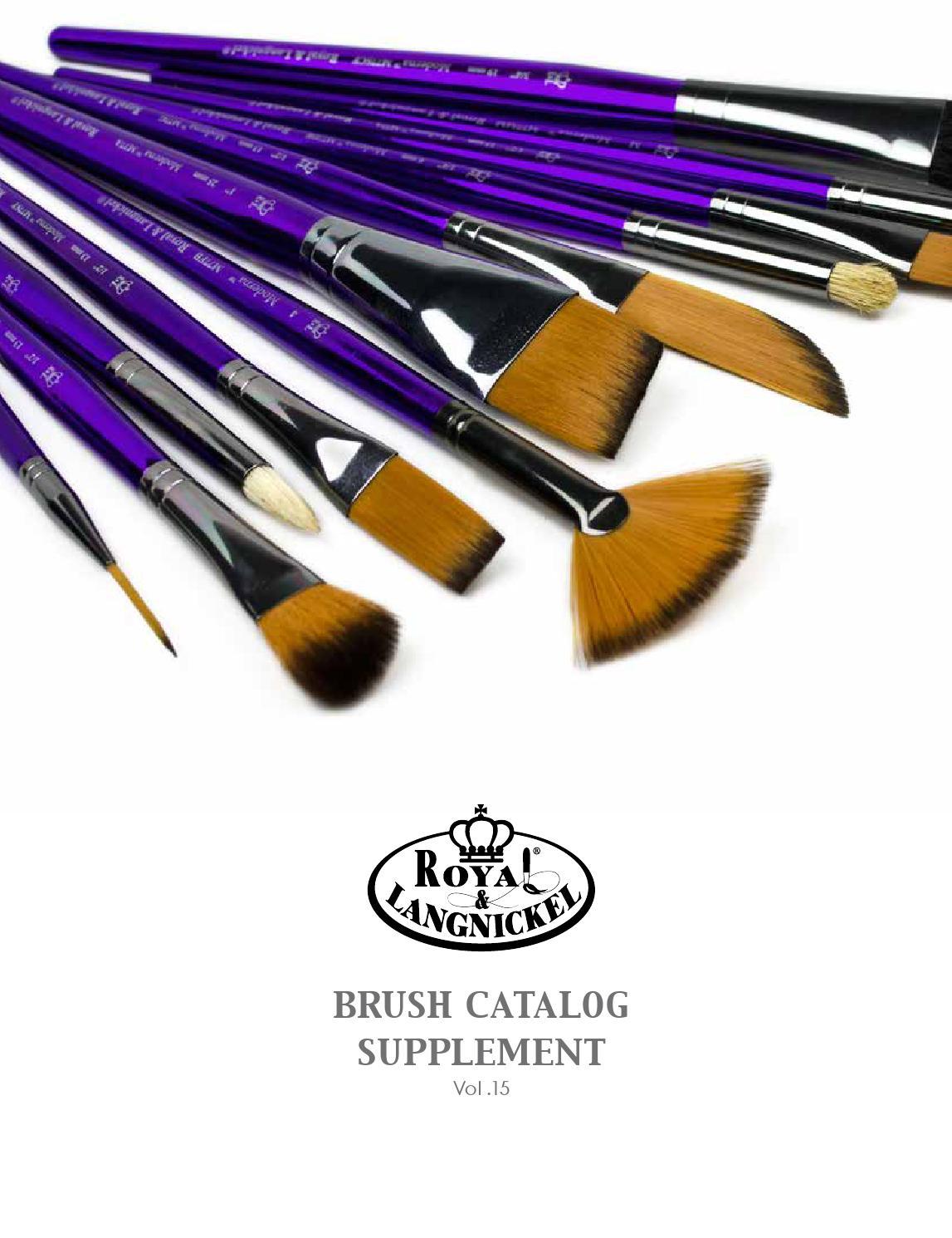 Medium Gold Taklon R205-40 Round 40 Jumbo Brush Royal /& Langnickel