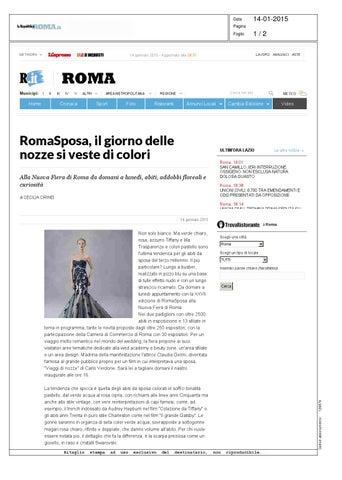 f66a88932db7 Rassegna stampa Roma Sposa 2015 by Roma Sposa 2015 - issuu