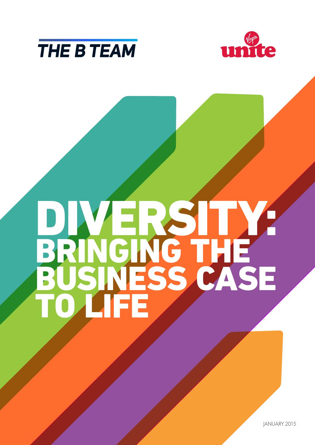 the business case for diversity james Business case for diversity report •••• 1 the business case for diversity: reality or wishful thinking with assistance from the association of legal administrators.