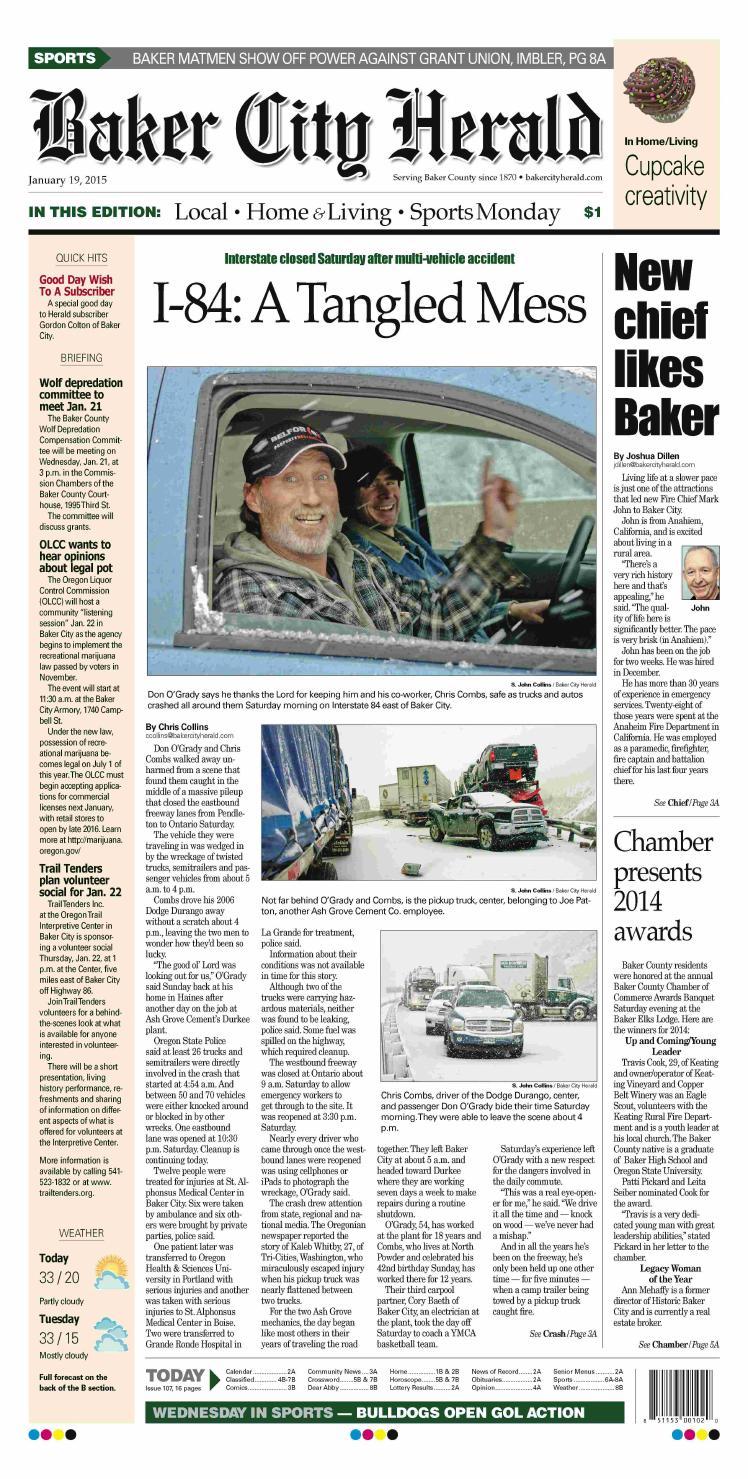 Baker City Herald 01-19-15 by NorthEast Oregon News - issuu
