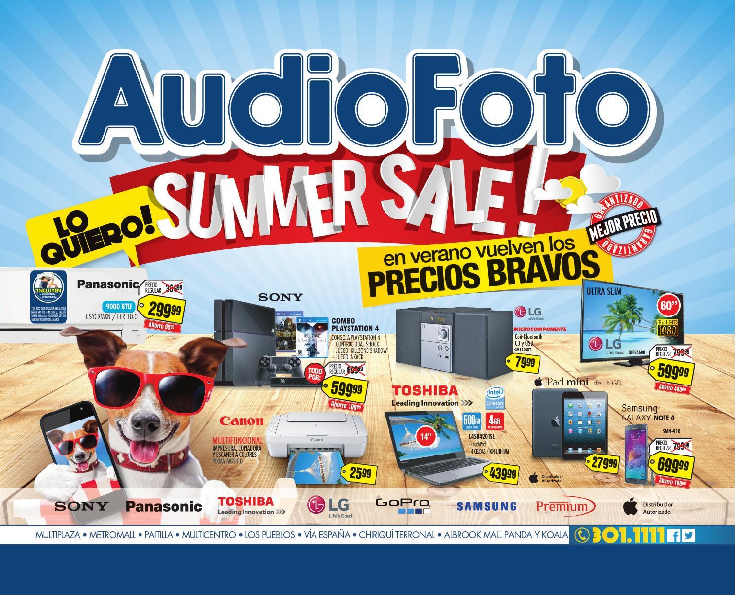 Audiofoto catalogo verano 2015 by audiofoto issuu for Catalogo bricoman 2015