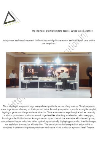 Exhibition Stand Design China : The well known exhibition booth designs in china by pomynilson singh